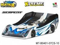 Matrix Racing Tires MT-B0401-07CS-10 1:8 Cut R18 Flat Ultra Light SERPENT Clear