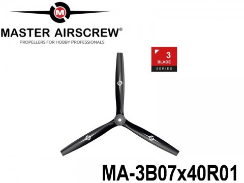 1107 MA-3B07x40R01 Master Airscrew Multi Rotor Propellers Only 3-Blade 7-inch x 4-inch - 177.8mm x 101.6mm Rev.-Pusher