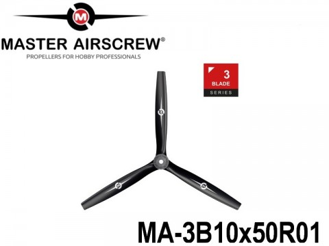 1139 MA-3B10x50R01 Master Airscrew Multi Rotor Propellers Only 3-Blade 10-inch x 5-inch - 254mm x 127mm Rev.-Pusher