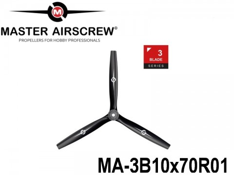 1099 MA-3B10x70R01 Master Airscrew Multi Rotor Propellers Only 3-Blade 10-inch x 7-inch - 254mm x 177.8mm Rev.-Pusher