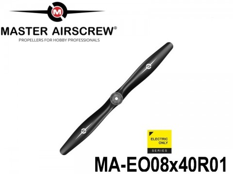 1021 MA-EO08x40R01 Master Airscrew Multi Rotor Propellers Only 8-inch x 4-inch - 203.2mm x 101.6mm Rev.-Pusher