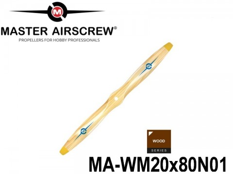 945 MA-WM20x80N01 Master Airscrew Propellers Wood Series 20-inch x 8-inch - 508mm x 203.2mm