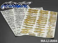 135 CAR DECAL SHEET - High Flexible Vinyl Label MA-LI-A004WT-White White