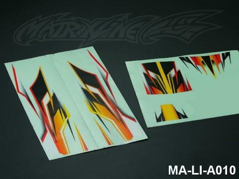 96 RACING VERSION DECAL SHEET - High Flexible Vinyl Label MA-LI-A010