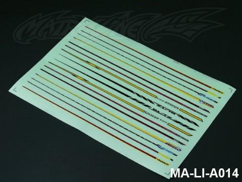 104 STRIPES DECAL SHEET - High Flexible Vinyl Label (Hot Sale) MA-LI-A014