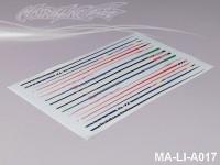 110 STRIPES DECAL SHEET - High Flexible Vinyl Label (Hot Sale) MA-LI-A017