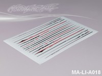 111 STRIPES DECAL SHEET - High Flexible Vinyl Label (Hot Sale) MA-LI-A018