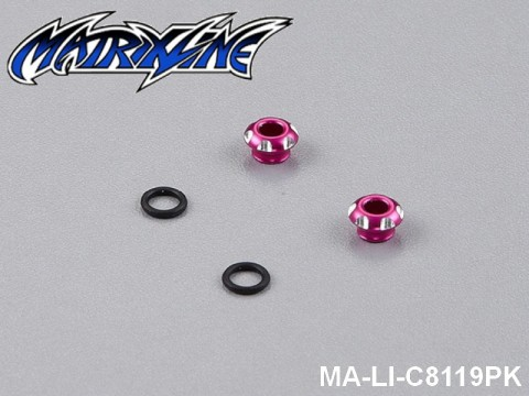 12 CNC Aluminium Alloy LED Light Holder For 3mm MA-LI-C8119PK Pink
