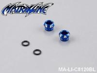 14 CNC Aluminium Alloy LED Light Holder For 5mm MA-LI-C8120BL Blue
