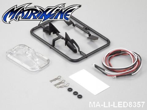 154 Wing Mirror W-LED Unit Set 1-10 Touring Car MA-LI-LED8357