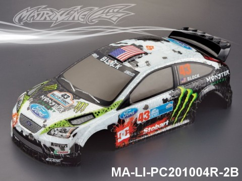 368 FORD FOCUS Finished PC Body RTR MA-LI-PC201004R-2B Painted