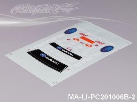 138 SUBARUIMRREZA WRX 10 DECAL SHEET - High Flexible Vinyl Label MA-LI-PC201006B-2
