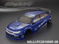 324 SUBARU IMRREZA WRX 10 Finished PC Body RTR MA-LI-PC201006R-2B Painted