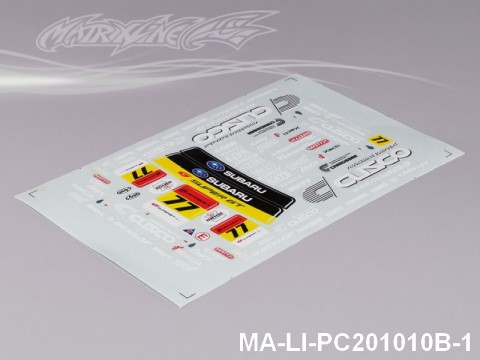 142 SUBARUIMRREZA WRX 9 DECAL SHEET - High Flexible Vinyl Label MA-LI-PC201010B-1