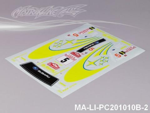 144 SUBARUIMRREZA WRX 9 DECAL SHEET - High Flexible Vinyl Label MA-LI-PC201010B-2