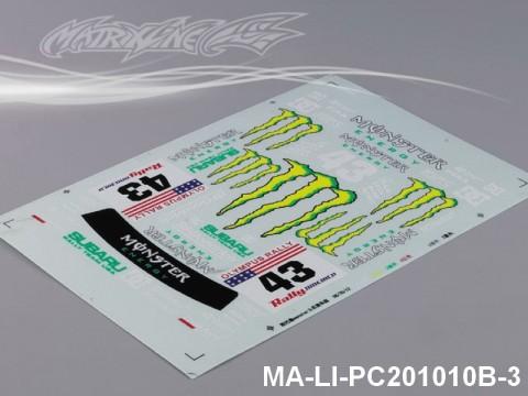 146 SUBARUIMRREZA WRX 9 DECAL SHEET - High Flexible Vinyl Label MA-LI-PC201010B-3