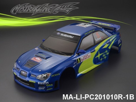 331 SUBARU IMRREZA WRX 9 Finished PC Body RTR MA-LI-PC201010R-1B Painted