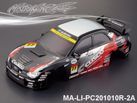 332 SUBARU IMRREZA WRX 9 Finished PC Body RTR MA-LI-PC201010R-2A Painted
