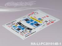 97 LEXUS LFA DECAL SHEET - High Flexible Vinyl Label MA-LI-PC201014B-1