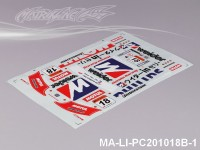 100 HONDA HSV DECAL SHEET - High Flexible Vinyl Label (Hot Sale) MA-LI-PC201018B-1