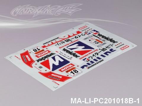 100 HONDA HSV DECAL SHEET - High Flexible Vinyl Label (Hot Sale) MA-LI-PC201018B-1
