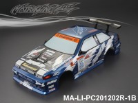 347 TOYOTA ESPELIR AE86 TRUENO Finished PC Body RTR MA-LI-PC201202R-1B Painted