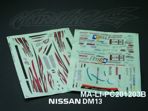 107 D-MAX Diversion ADVAN ONE-VIA DECAL SHEET - High Flexible Vinyl Label (Hot Sale) MA-LI-PC201203B