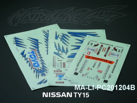 109 NISSAN GP SPORTS S15 SILVIA DECAL SHEET - High Flexible Vinyl Label (Hot Sale) MA-LI-PC201204B