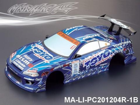 349 NISSAN GP SPORTS S15 SILVIA Finished PC Body RTR MA-LI-PC201204R-1B Painted