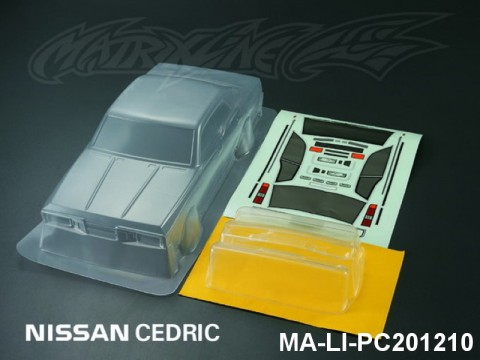 424 NISSAN CEDRIC PC Body SHELL MA-LI-PC201210 Transparent
