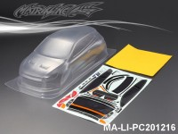 435 VOLKSWAGEN SCIROCCO PC Body SHELL MA-LI-PC201216 Transparent
