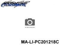 441 AUDI R8 CARBON-PRINTING PC Body SHELL MA-LI-PC201218C Transparent