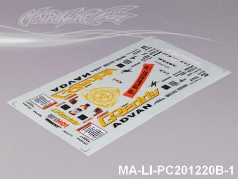 447 MAZDA RX-7 DECAL SHEET - High Flexible Vinyl Label MA-LI-PC201220B-1 Transparent