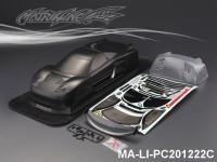 452 HONDA NSX RAYBRIG CARBON-PRINTING PC Body SHELL MA-LI-PC201222C Transparent