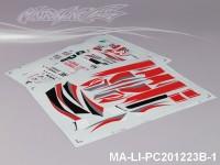123 LEXUS SC430 DTM DECAL SHEET - High Flexible Vinyl Label (Hot Sale) MA-LI-PC201223B-1