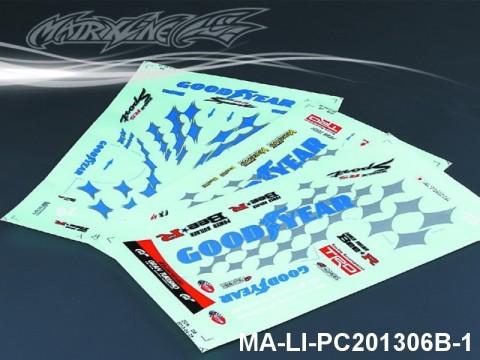 128 GOODYEAR Racing ZERO CROWN DECAL SHEET - High Flexible Vinyl Label (Hot Sale) MA-LI-PC201306B-1