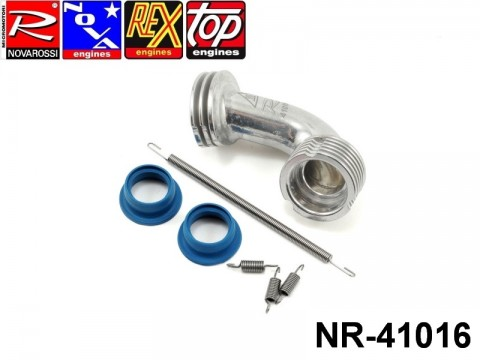Novarossi NR-41016 Manifold Set Polished Conical Medium 2 Rings 6 Fins + 21000 + 60001 + 60006 ON ROAD