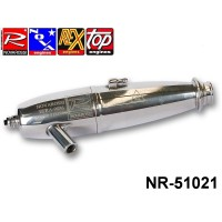 Novarossi NR-51021 Polished pipe, with ring, 2 chambers, Super Strong ON - OFF ROAD