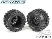 Protoform PF-10110-15 Interco® TSL sx Super Swamper® 2.8 All Terrain Tires Mounted on F-11 Black Rear Wheels 2 for Electric Stampede®-Rustler® Rear