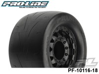 Protoform PF-10116-18 Prime 2.8 street Tires Mounted on F-11 Black 17mm Wheels 2 for PRO-MT 4x4, PRO-Fusion sc 4x4 & stampede® 4X4 Front and Rear