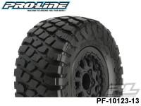 Protoform PF-10123-13 BFGoodrich® Baja T-A® KR2 sc 2.273.0 M2 Medium Tires 2 Mounted on Renegade Black Wheels 2 for Slash® 2wd Rear & Slash® 4x4 Front or Rear