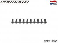 SER110106 Screw Allen Flanged Roundhead M5x12 (10)