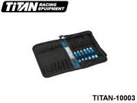 TITAN-10003 TiTAN Basic Tool Set with Bag (6pcs) (included 1.5mm, 2.0mm, 2.0mm Ball, 2.5mm, 2.5mm Ball and 3.0mm Allen Wrench with 10001) Color: Blue -Black