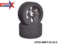 UFRA Racing Tyres 1:8  Front Tyre On-road Carbon Rim UFRA-MBFC18-32-5-Pack